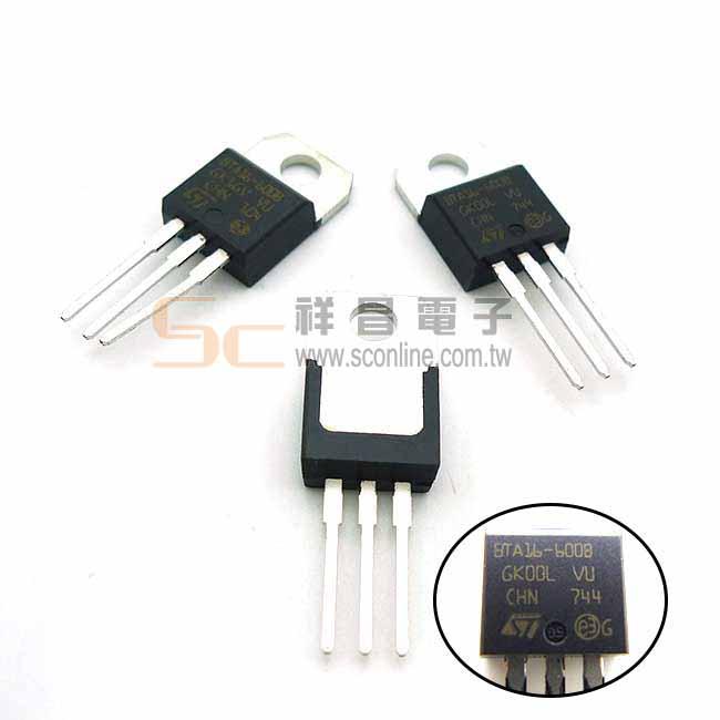 雙向矽控整流 TRIAC 600V16A (BTA16-600B) 積體電路 IC芯片 (1入)