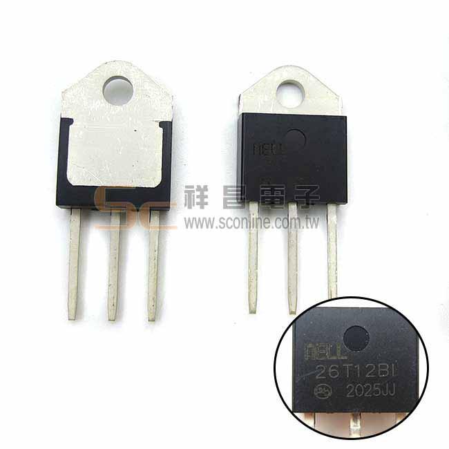 TRIAC NELL 26T12BI 3P 高電流雙向可控矽