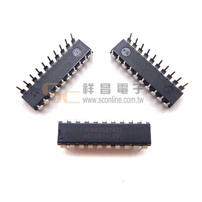 ADC0804 8位CMOS逐次比較型A/D轉換器 DIP-20 (1入) 下單前建議先詢問交期