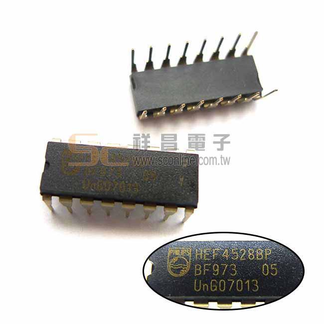 HEF4528BP BF973 CMOS DIP-16 邏輯-多頻振盪器 積體電路 IC晶片 (1入)