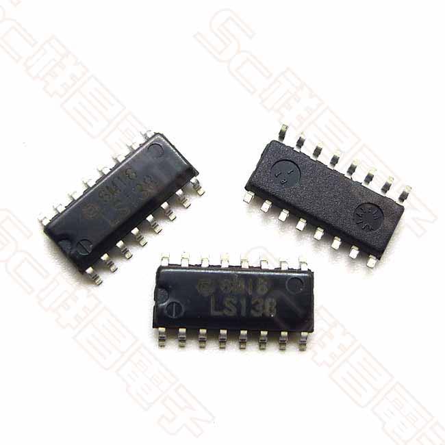 74LS138 SMD 貼片 解碼器 多路分解器 解碼晶片 數字邏輯集成IC