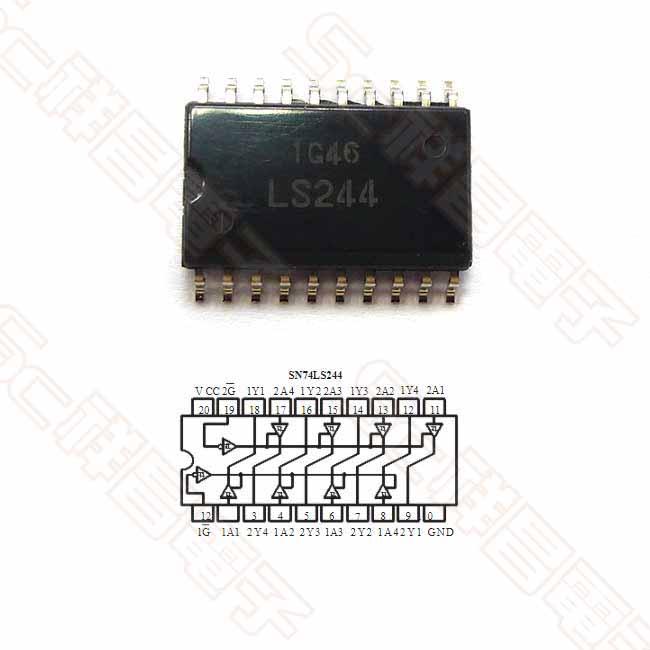 74LS244 SMD 貼片 八進制三態緩衝器 先驅動器晶片