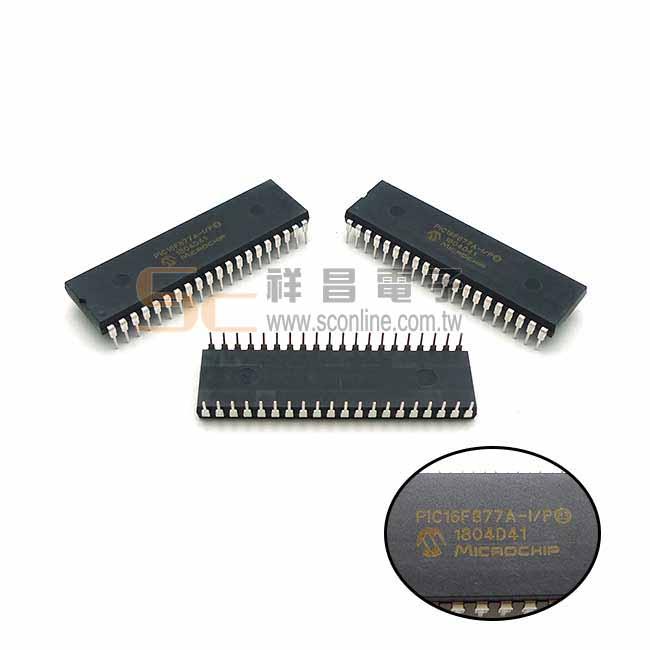 MICROCHIP PIC16F877A-I/P CMOS微控制器  DIP-40