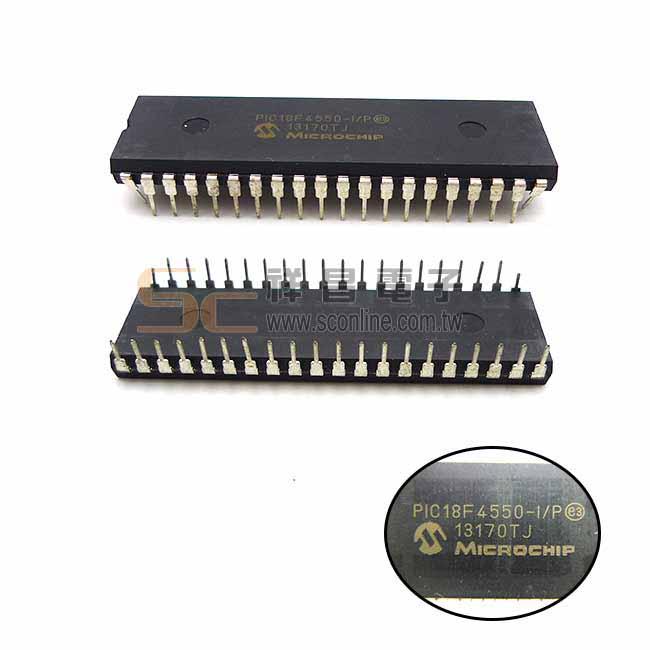 MICROCHIP PIC18F4550-I/P 單晶片微處理器 DIP-40