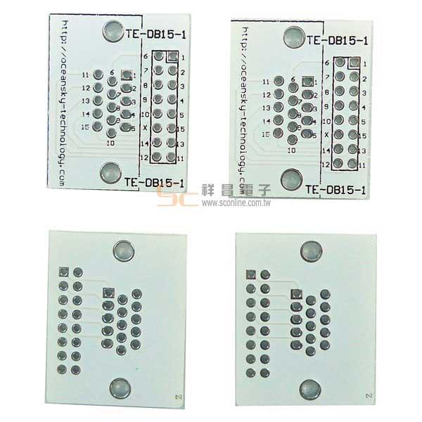 D-SUB 15PIN 2.54 IC轉接板/腳座 (4片裝) 24號