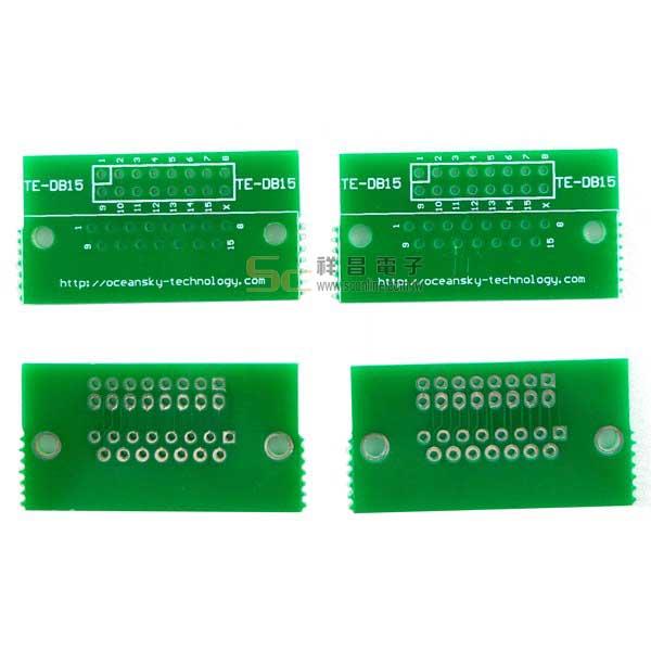 D-SUB 15 PIN 2.54 IC轉接板/腳座 (4片裝) 26號