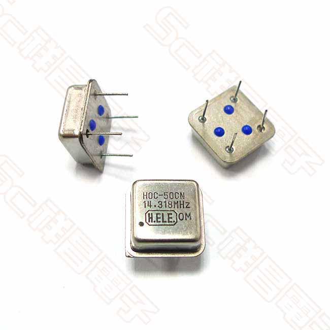 石英振盪器 晶振 方形 9M-OSC 14.318M 直插 DIP-4 HALF