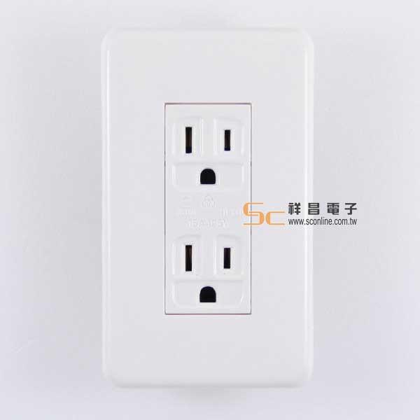 聯蓋3P2聯接地座/壁插/AC電源插座