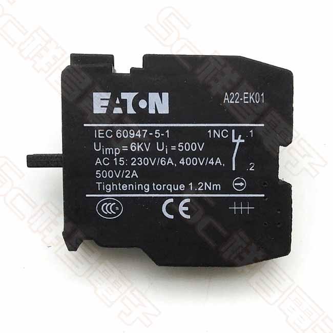 EATON MOELLER A22-EK01開關接點 (NC接點)
