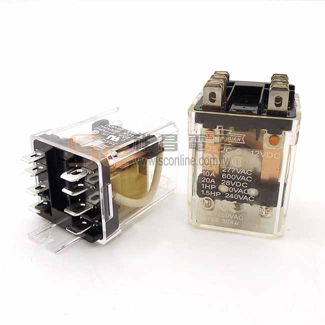Song Chuan 735-2C-C1 12VDC 繼電器