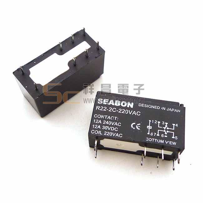 SEABON R22-2C-220VAC 繼電器