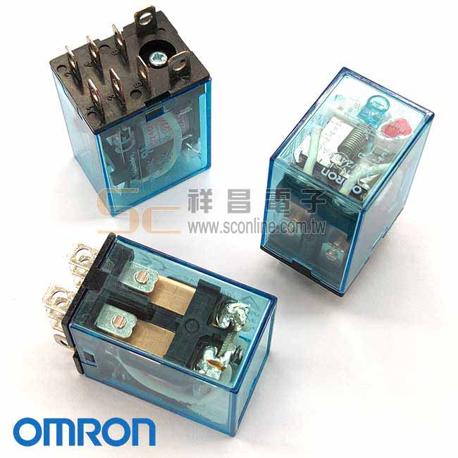 日系OMRON LY2NJ 2P 8pin AC220 扁腳繼電器(帶燈)