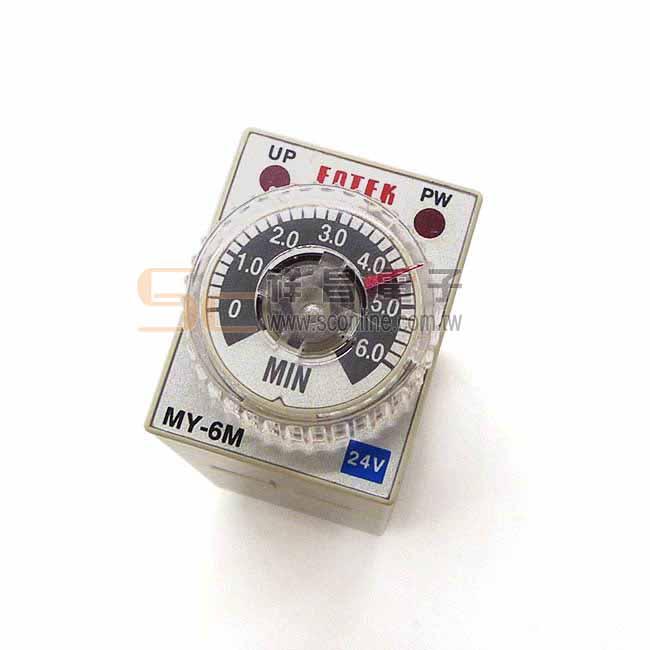 FOTEK MY-6M-2P DC24V 小型計時器 計時繼電器