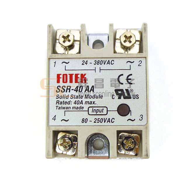 陽明 FOTEK SSR-40AA 固態繼電器