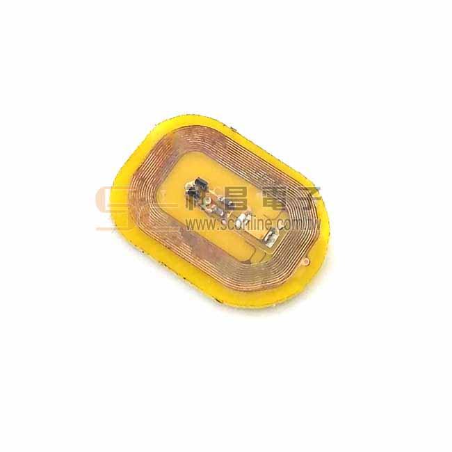 高頻NFC 13.56MHZ感應式發光標籤 (黃光)