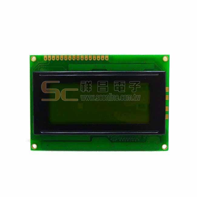 LCD顯示器 液晶 螢幕 無背光 SC01604A0 4x16 黃綠膜 字體墨綠偏黑 84x64mm 含PCB (客訂)