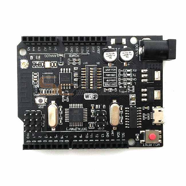 WiFi UNO R3 ATmega328P+ESP826 32Mb memory CH340G 適用 arduino