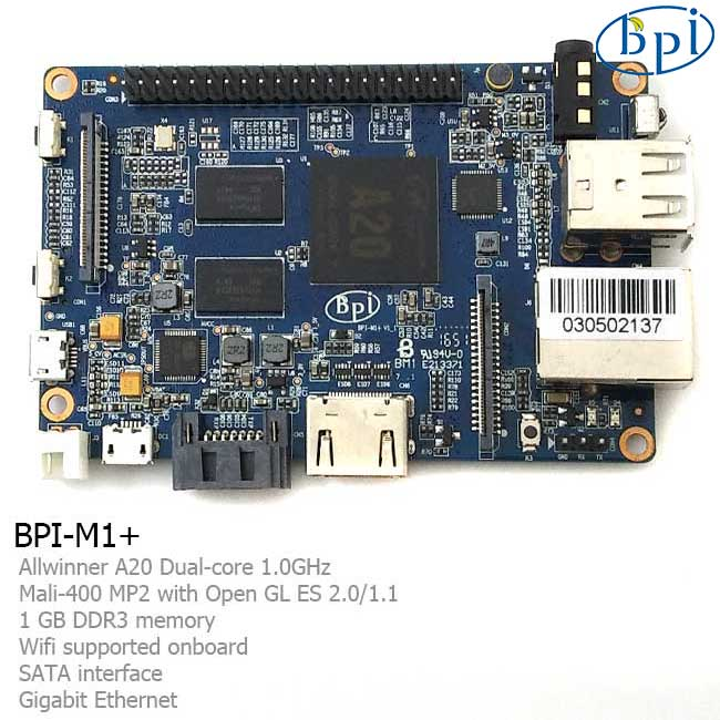 Banana PI 香蕉派 BPI-M1+ A20雙核 BPI-M1 plus 開發板