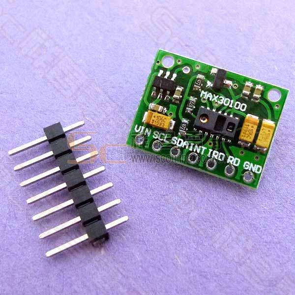 Arduino MAX30100 血氧與心律數位感測模組