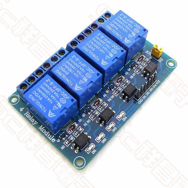 Arduino 4路 5V 繼電器模組(藍板)