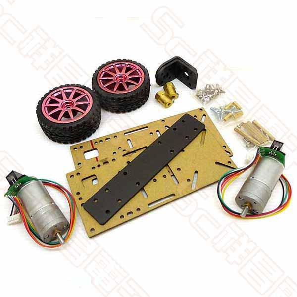 兩輪自平衡小車 2WD 智能小車 金屬電機 1:21電機(適用JGA25-371) + 壓克力底盤(2片)