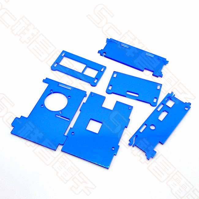 樹莓派 raspberry pi B型B+ 2/3代 可掀蓋 壓克力保護盒 (藍色)
