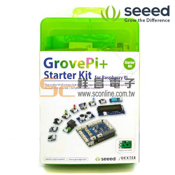 GrovePi + Starter Kit for the Raspberry Pi