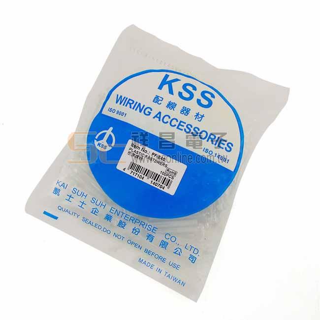 KSS 凱士士 PF-640 圓頭十字塑膠螺絲 100入