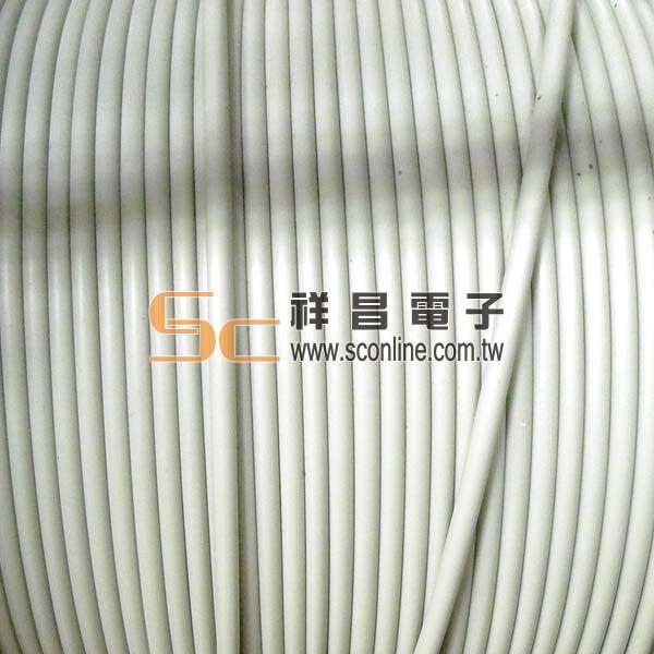 4C 4芯 電話線 - 圓線 1M  ( 零剪線 )