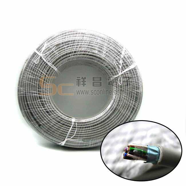 華新麗華 台製 PE-PVC 鋁箔遮蔽數位話纜 0.5mm x 10P 200M (整捲)