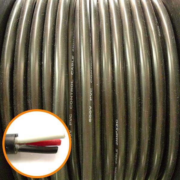 PVC 2mm 3C 細蕊控制線 1M (零剪線)