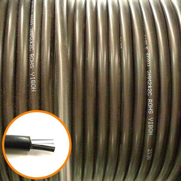 2.0mm 2芯 控制線 1M (零剪線)