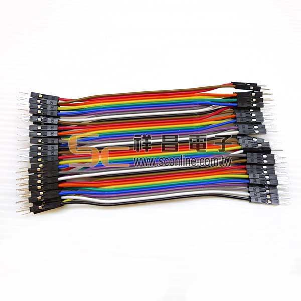 彩虹排線 公-公 10cm