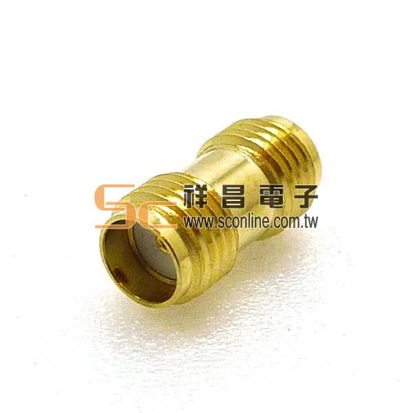 SMA鍍金雙母插座 (母頭母針-母頭母針)