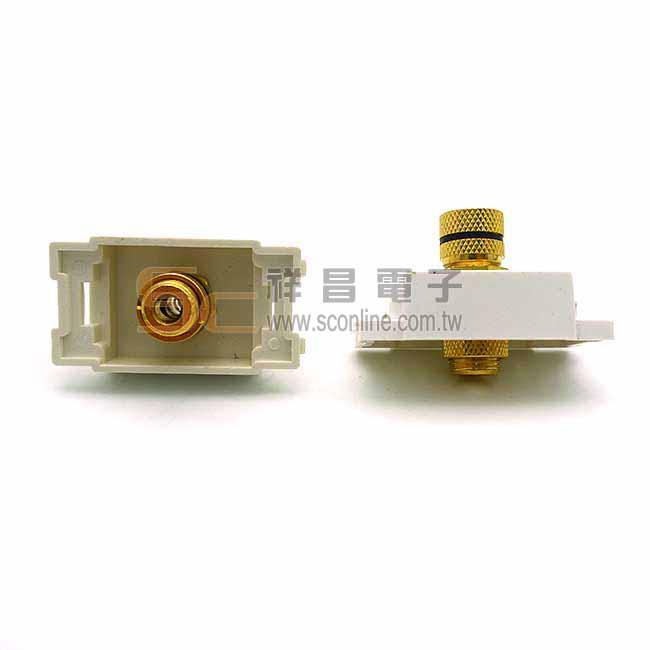 卡式喇叭輸出端子 CAB58009 (需焊接-藍色) 1入