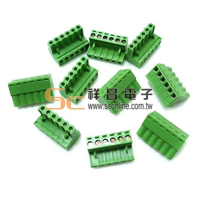 3.5mm - 6 Pin 母頭端子台 (0151-6P-F)  (10PCS/包)