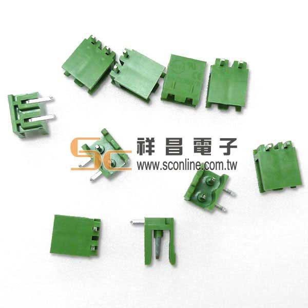 5.08mm - 2 Pin 公座90度端子台 (0154-2P-M-90)  (10PCS/包)