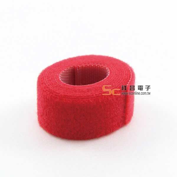 雙面粘扣帶(紅色) 寬2cm/長90cm