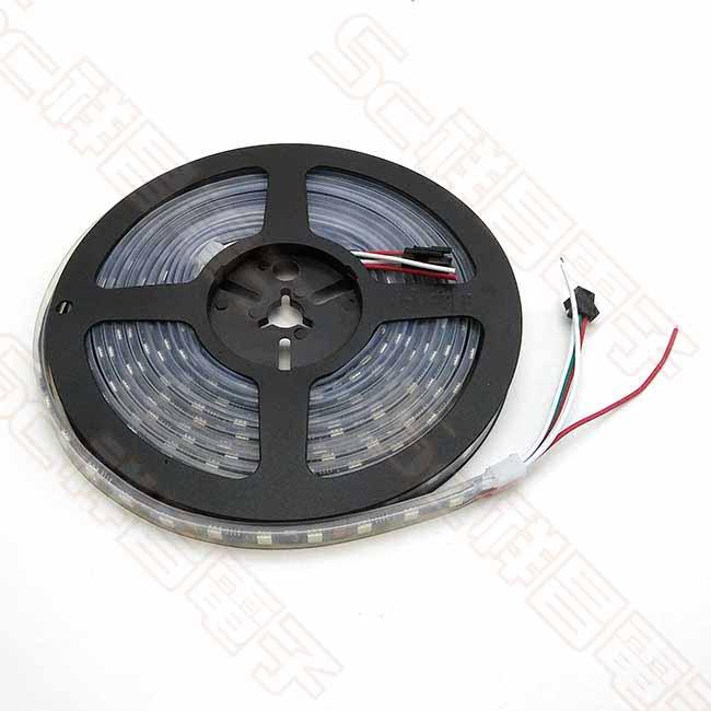 幻彩燈 5050 DC12V 黑底 套管防水 三線 300燈 5M