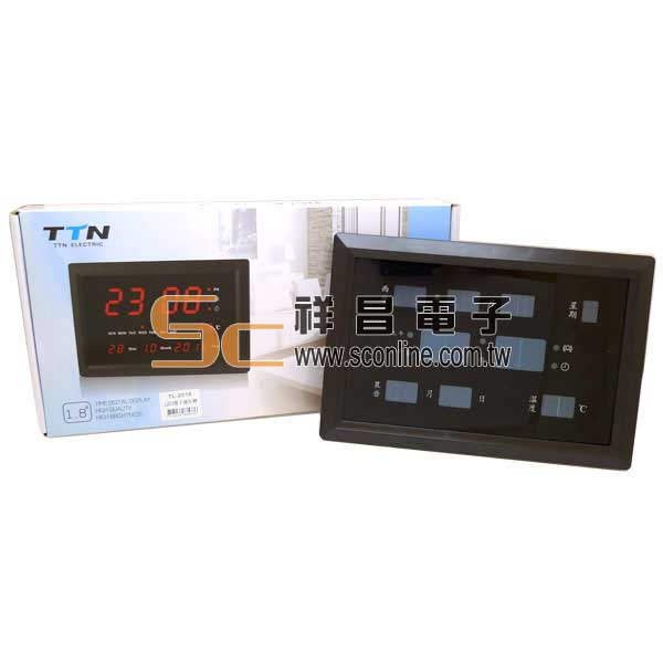 大面板LED多功能萬年曆電子鐘 LED電子萬年曆(紅字)