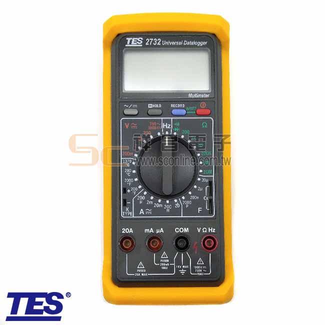 TES泰仕 TES-2732A 1000V/20A RS-232記憶儲存資料電錶