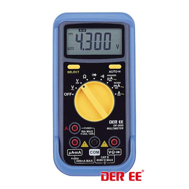 DER EE 得益 DE-2005 數位萬用電錶 數位電錶 萬用電錶 萬用電表 三用電錶 三用電表
