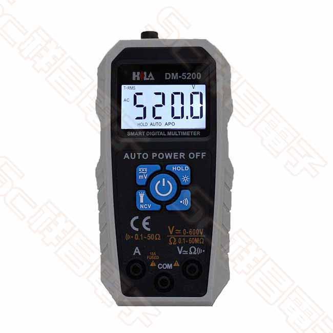 HILA 海碁 DM-5200 智慧型電錶 TrueRms 數字電錶 液晶電表 三用電錶 三用電表