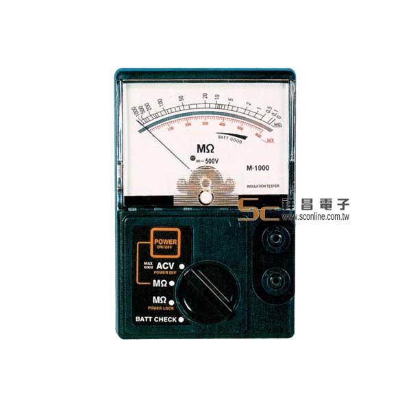 M-1000 電子晶體式絕緣高阻計 (500V/1000MΩ)