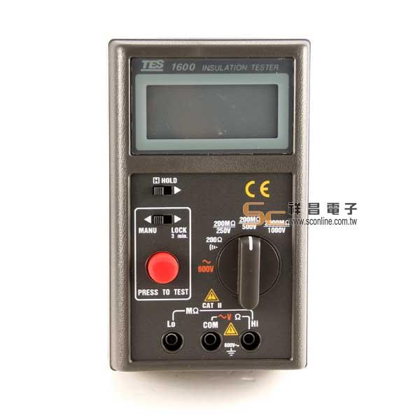 TES-1600 數位式絕緣測試器