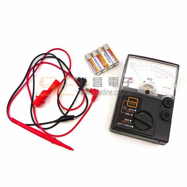 DHA 指針式高阻計 電子晶體式絕緣高阻計 DHM-1006
