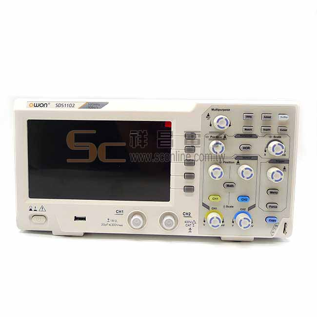 OWON 可攜式100MHz雙通道示波器 SDS1102