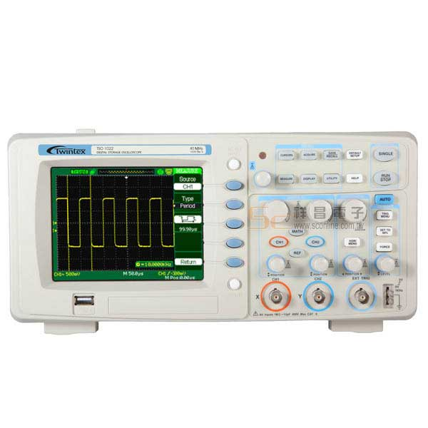 TSO-1022 儲存示波器 25MHz / 500Msa/s 雙軌 彩色液晶顯示