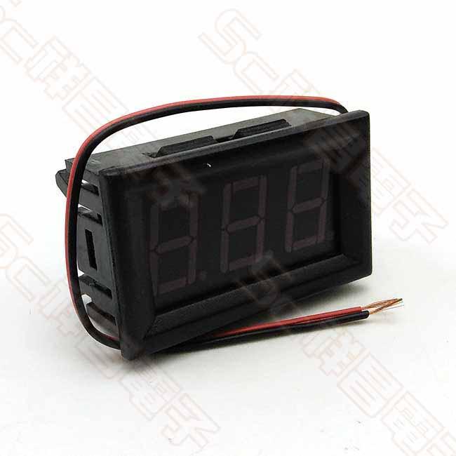 0.56 三位元 AC70~500V 兩線式交流電壓錶頭 (紅色) 無防水