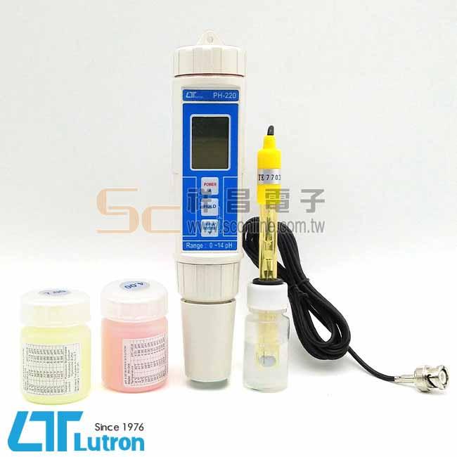 Lutron路昌 PH-220 筆型酸鹼計/PH計/水質檢測/電極/防水IP67